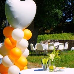 bruiloft ballonnen tuin