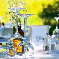 bruiloft styling tafel